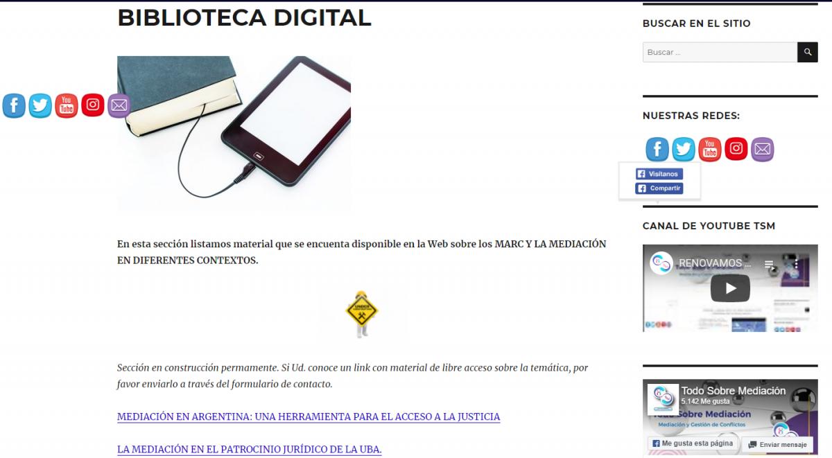 BIBLIOTECA DIGITAL NUEVA SECCIÓN DE TSM